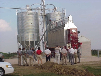 Image of a grain dryer